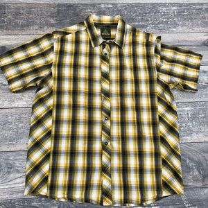 Prana short sleeve pearl snap shirt